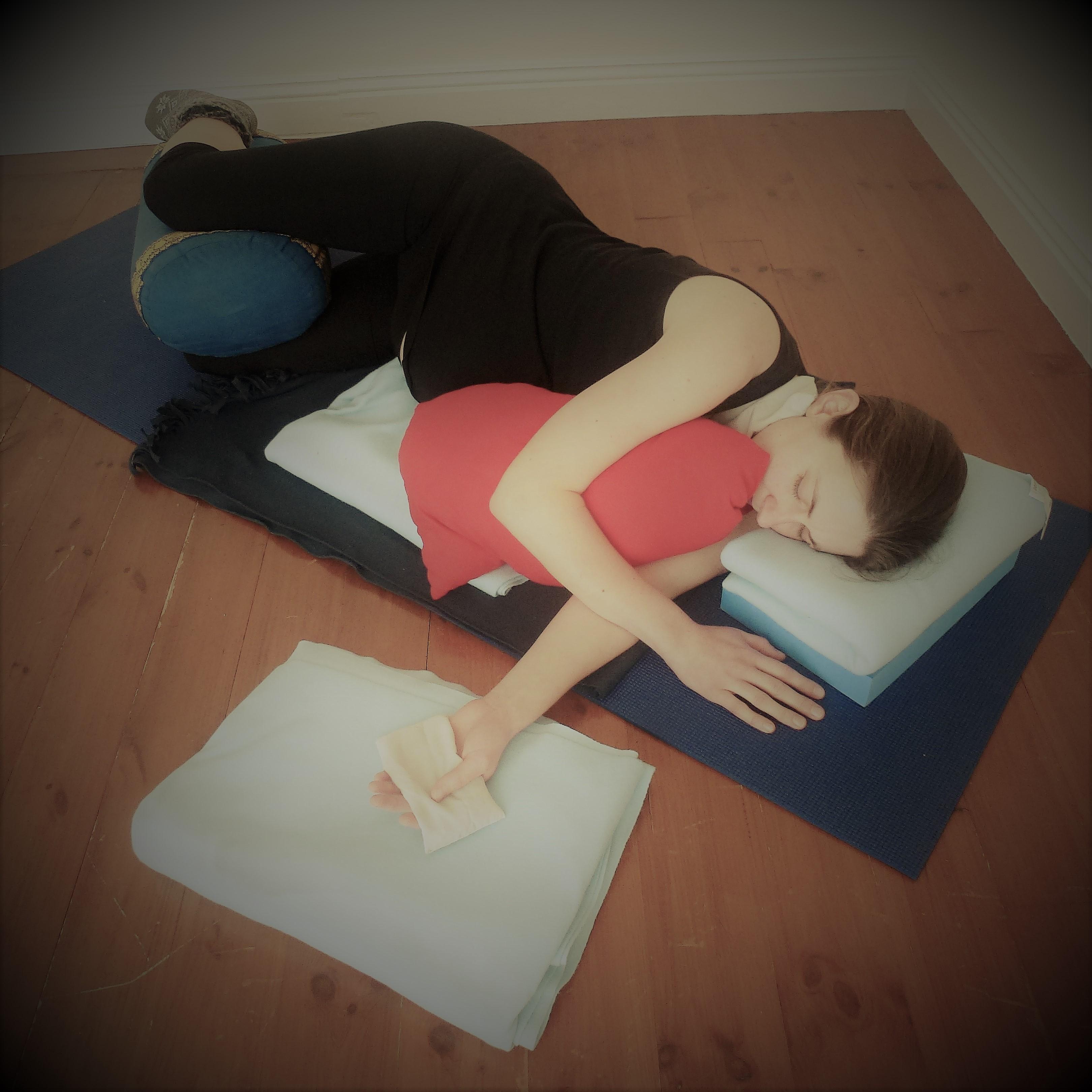 Pregnancy Yoga 101 Number 10 Side Lying