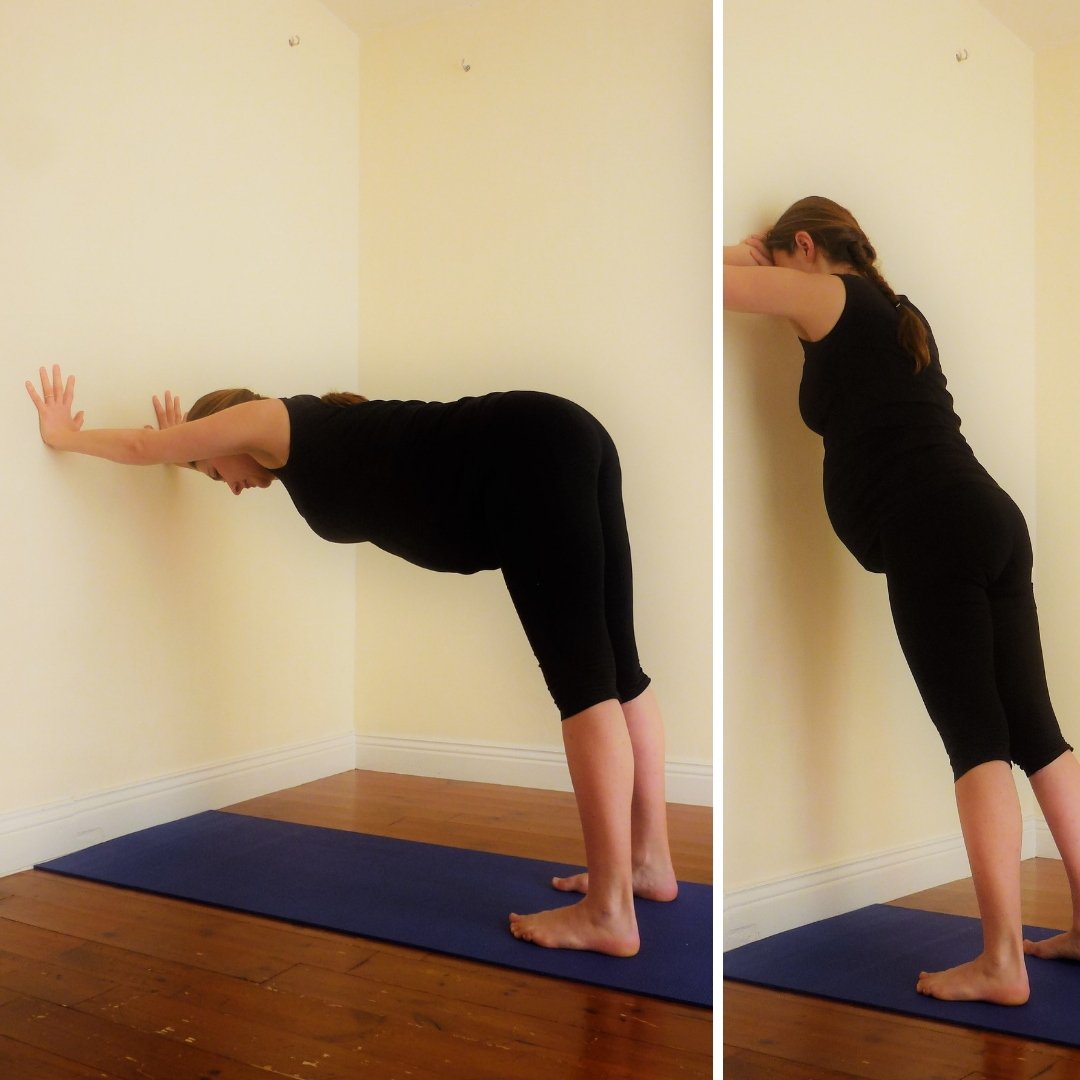 Pregnancy Yoga 101 Number 5 Wall Stretch and The Ladder